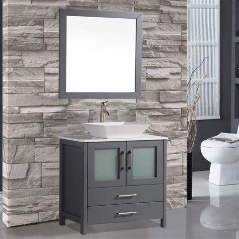 Modern Bathroom Vanity Mirrors by Mtdvanities Tahiti 36 Quot Single Modern Bathroom Vanity Set