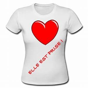 Tee Shirt A Personnaliser : t shirt blanc pour femme personnaliser ~ Dallasstarsshop.com Idées de Décoration
