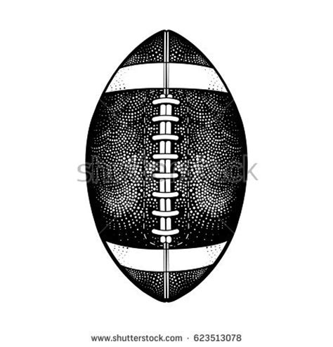 american football vector black and white vector black white american football stock vector