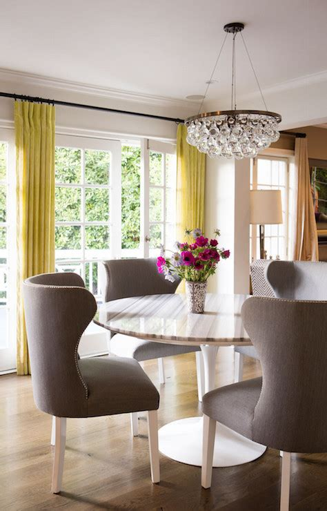 yellow  gray dining room design contemporary dining