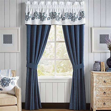 bed bath and beyond valances croscill 174 clayra window curtain panels and valance bed
