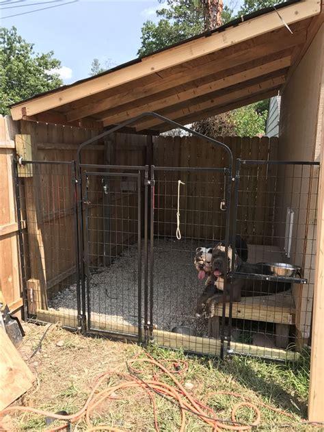 built  dog kennel   side   shed dog kennel outdoor dog house diy diy dog kennel