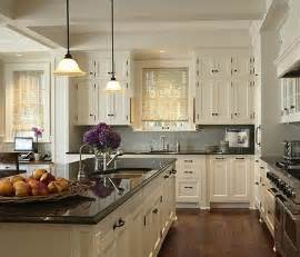 dark floors countertop light cabinets kitchens
