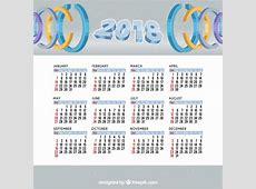 Calendário 2018 com círculos Baixar vetores grátis