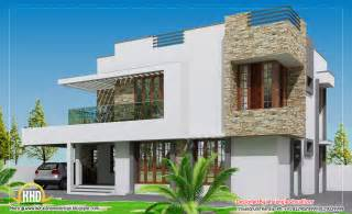 modern house plan contemporary home design 2304 sq ft indian house plans
