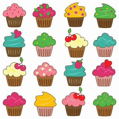 Clip Cupcakes Clipart Commercial Cupcake Printable Pink