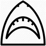 Shark Outline Jaw Icon Jaws Vector Clipart