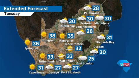 enca  twitter missed  weather forecast  tomorrow