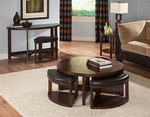 round coffee table with seats underneath With circle coffee table with seats