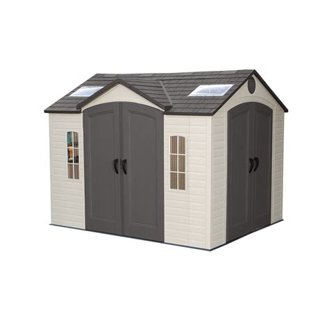lifetime products 10 ft x 8 ft resin storage shed lowe s