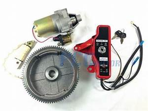 Gx160 Gx200 Electric Start Kit Starter Motor Flywheel Switch P St18