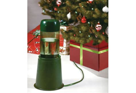 self watering device for led train station christmas tree