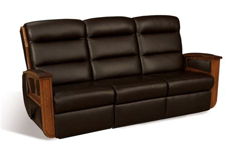 wall hugging reclining sofa hton wall hugger reclining sofa amish furniture factory