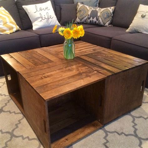 Go to my for sale page for more information! Wine Crate Coffee Table