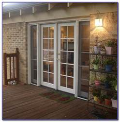patio doors with side screens patios home