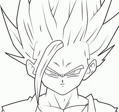 Saiyan Super Gohan Coloring Goku Pages Drawing