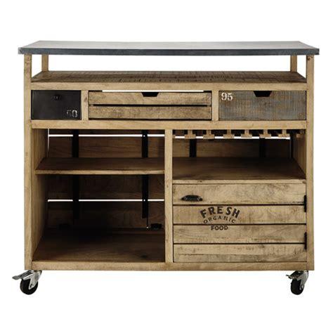 conforama cuisine soldes meuble de bar à roulettes en manguier farmers bar