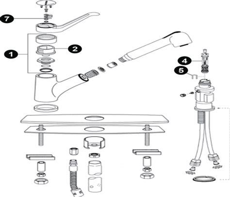 moen kitchen faucet parts diagram kitchen diagram faucet repair moen single handle parts