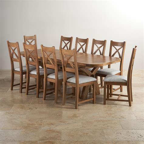 hercules dining set  rustic oak extending table