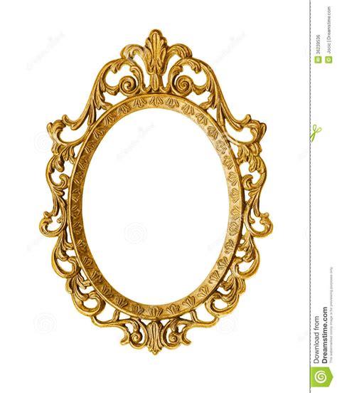 oval mirror frames goldener antiker rahmen lizenzfreies stockbild bild