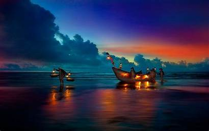 Wallpapers Resolution Boat Sunset Yacht Desktop Sail