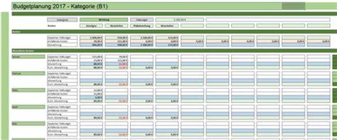 budgetplanung excel vorlage zum