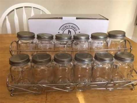 Spice Rack With Jars by Cucinadimarco Cucina Di Marco Spice Rack With 12