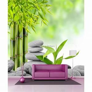 Papier Peint Geant : papier peint g ant bambous et galets 11026 stickers ~ Premium-room.com Idées de Décoration
