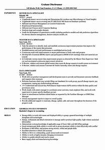 Data Specialist Resume Samples
