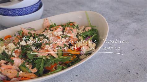 salade de couscous israelien au saumon   la menthe