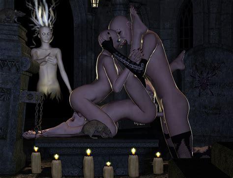 Cute Drow Girl Sucking Off An Ancient Vampire At Xxx 3d