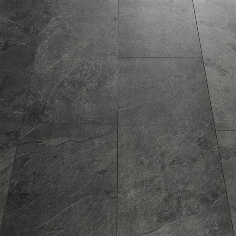 Quick Step Livyn Tile Black Slate Luxury Vinyl Tile