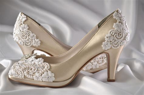 Wedding Shoes by Wedding Shoes Womens Shoes Pbt 0826a Vintage Wedding Lace