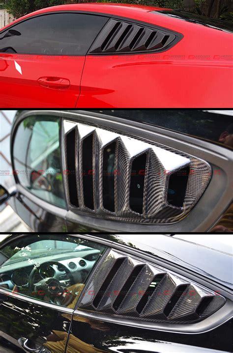 mustang   gt  carbon fiber side window