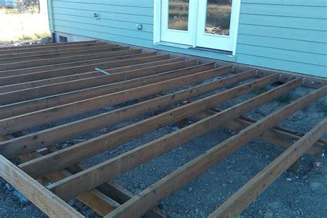 deck frame built albany adair home