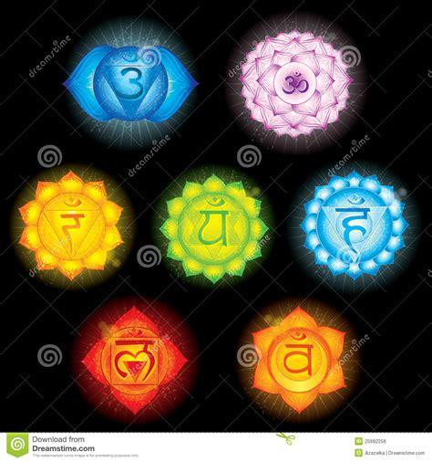 chakra symbols royalty  stock image image