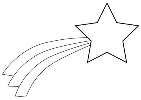 christmas shooting star coloring page  printable