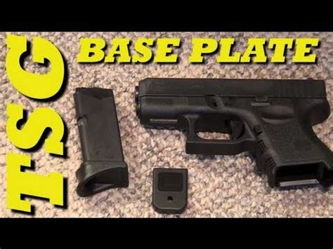 how to remove glock magazine base plate youtube