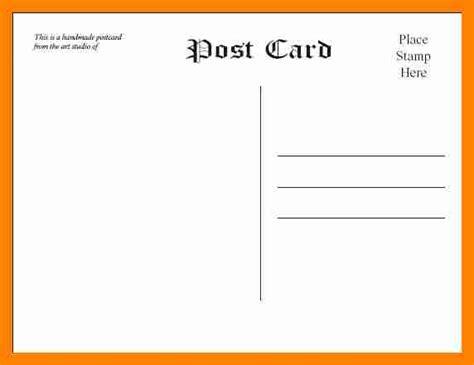 Template Postcard Template For Word Free Postcard Templates Microsoft Word Ideasplataforma
