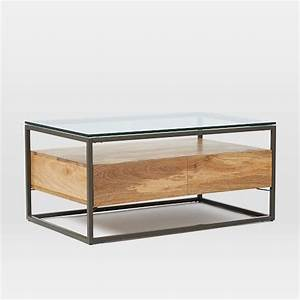 box frame storage coffee table west elm With west elm box frame storage coffee table