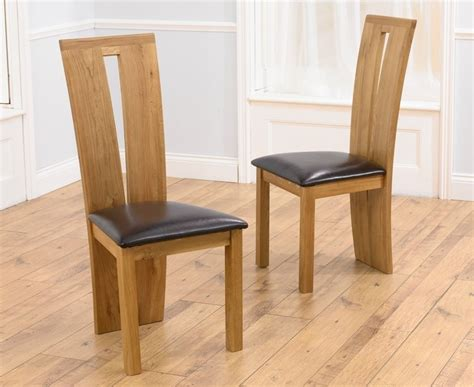 oak leather dining chairs buy harris arizona oak dining chair black bycast 3584