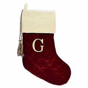 harvey lewistm letter quotgquot monogram christmas stocking made With monogram letters for christmas stockings