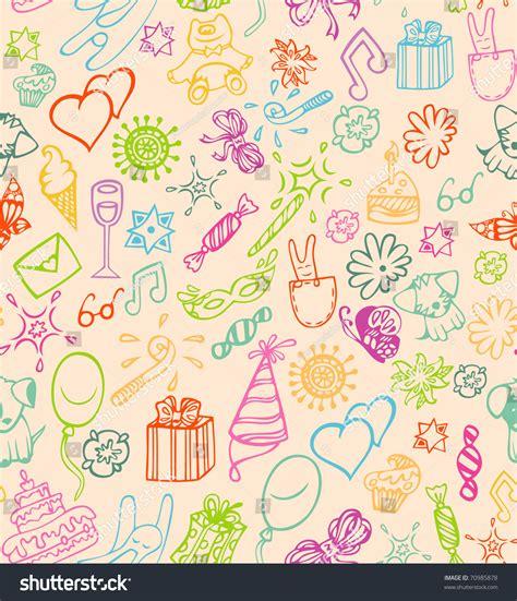 happy birthday pattern stock vector illustration 70985878