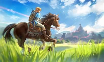 Breath Zelda Wild Legend Link Horse Wallpapers