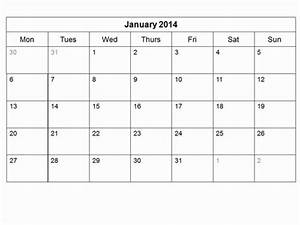 free 2014 monthly calendar template With 2 month calendar template 2014