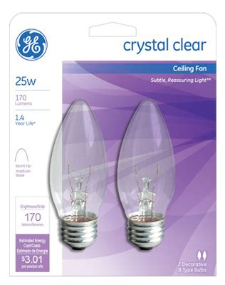 ceiling fan uplight bulbs ge ceiling fan bulb 25w 22756