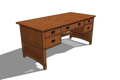 mission desk plans  woodworking