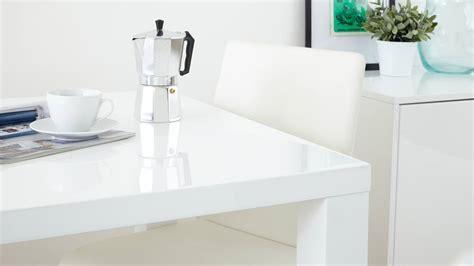 Fern White Gloss Extending Dining Table   Danetti UK