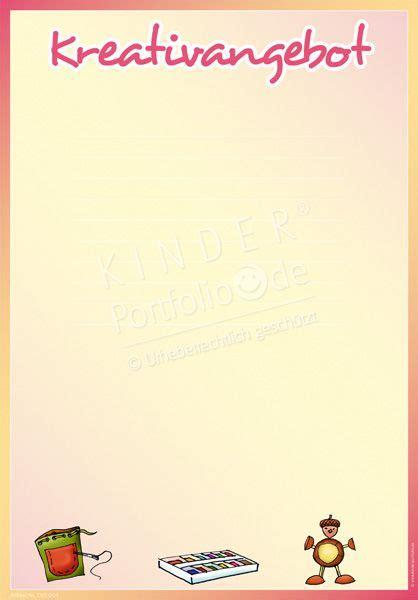"""Phänomenal portfolio vorlagen zum ausdrucken kinderbilder. Kindergarten Portfolio Vorlage """"Kreativangebot""""   """"Malen, Basteln & Gestalten"""" - Kindergarten ..."""