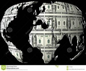 Money Globe Royalty Free Stock Image